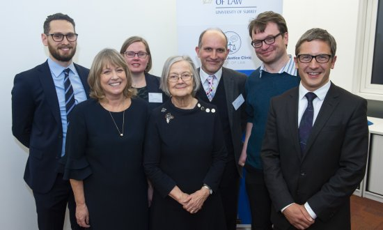 Lady Hale and staff
