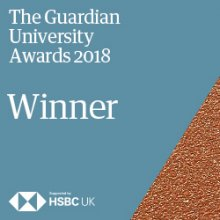 The USL have won the prestigious Student Experience award Guardian University Awards 2018