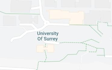 Map of the University of Surrey